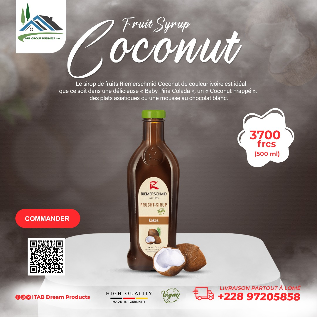 Fruit Syrup Coconut