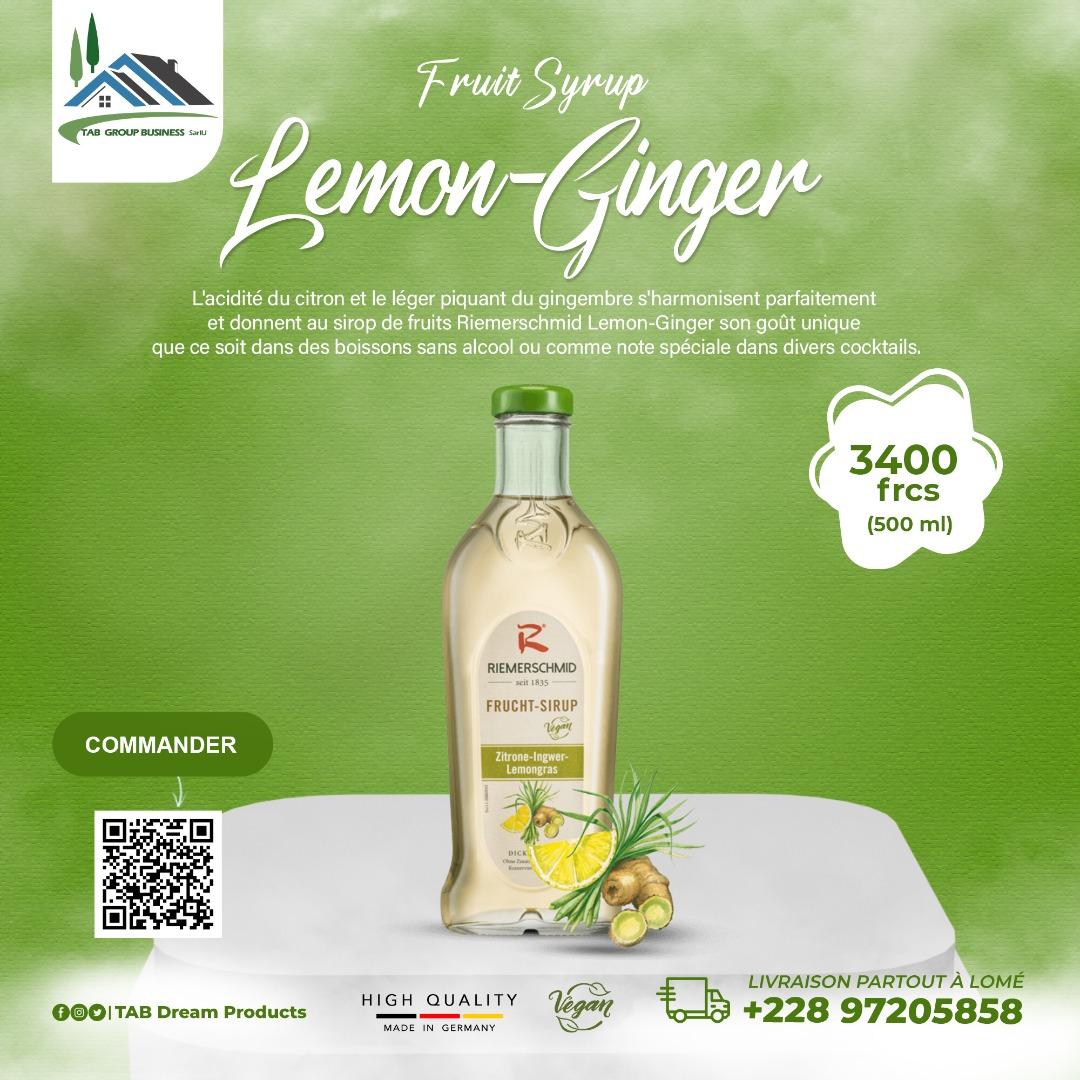 Fruit Syrup Lemon-Ginger