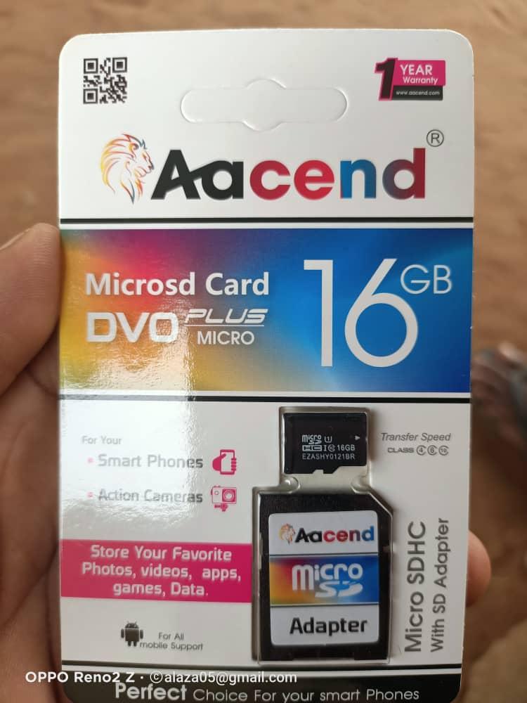 CARTE MÉMOIRE ORIGINAL 16GB