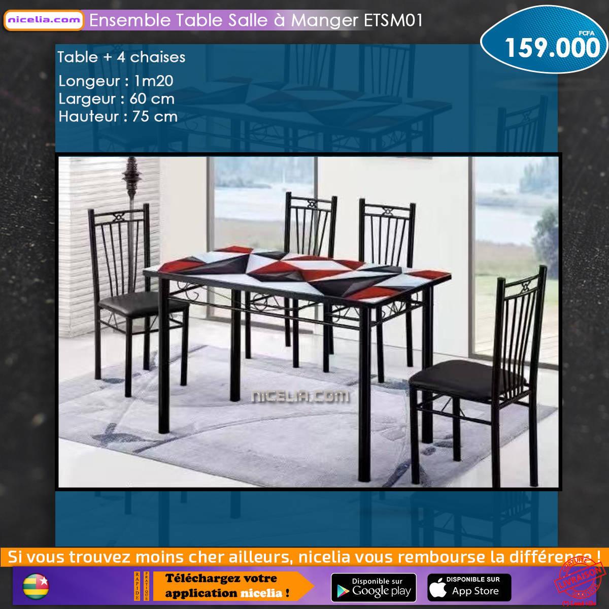 Ensemble table salle à manger ETSM01