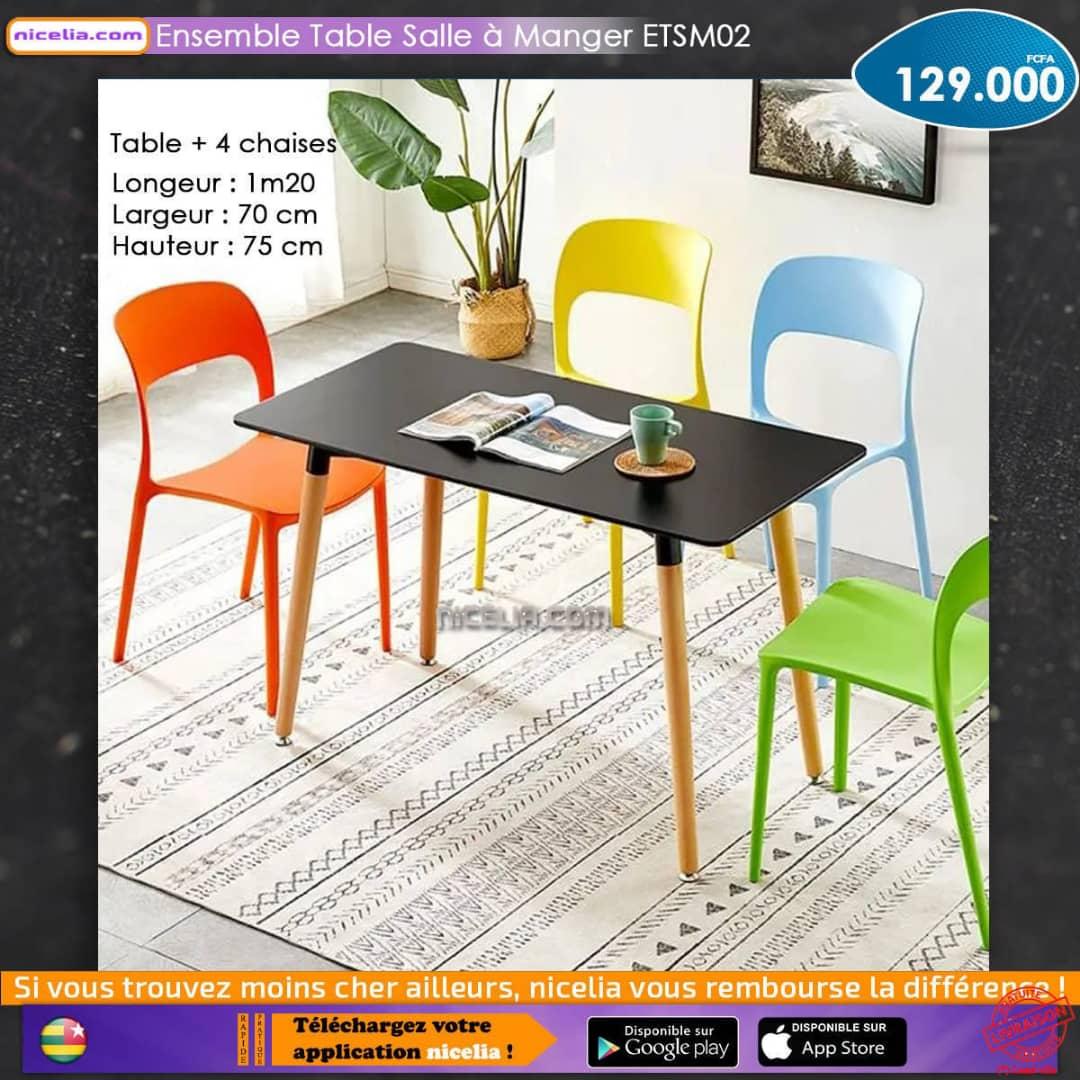 Ensemble table salle à manger ETSM02