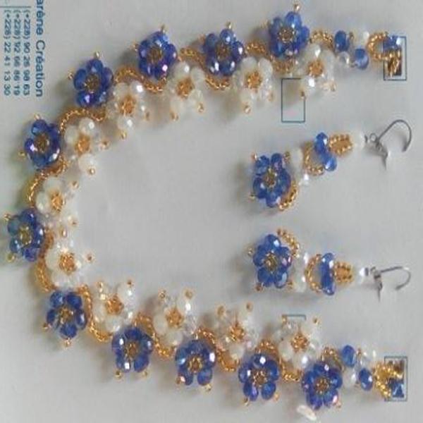 Colier, boucles d'oreilles ,bracelet