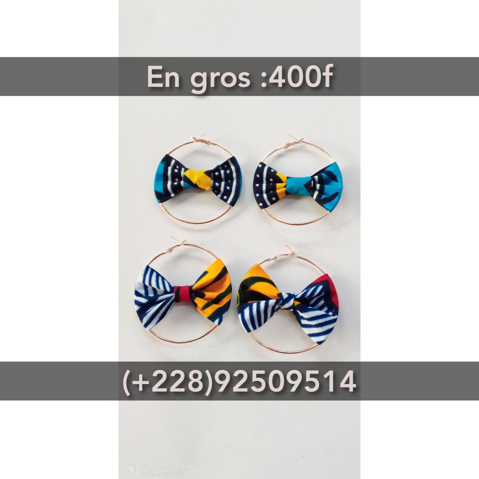 Boucles d'oreilles en pagne chic